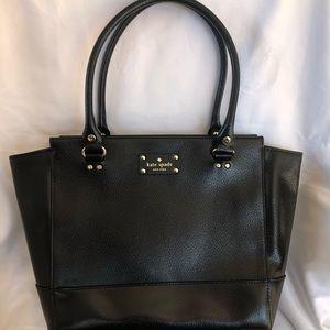 Kate Spade Large Black Leather Satchel Tote Unused